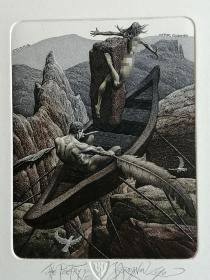 乔丹诺夫巨幅藏书票