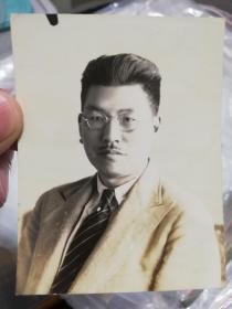 民国上海教育局长徐佩璜照片一张