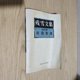 残雪文集 第四卷:突围表演 一版一印
