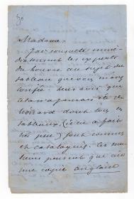 小仲马 有关新发现的达芬奇画作向卢浮宫专家咨询求证真伪的亲笔长信