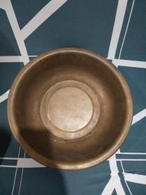 民国铜盆,古朴厚重