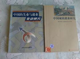 中国的失业与就业变动研究 顾建平著 中国城镇就业研究 厉以宁主编