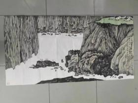 【保真】中美协会员 天津省美协理事 柴博森 四尺整张国画1