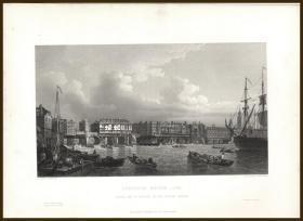 1848年钢版画《伦敦桥》