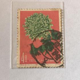 """特44《菊花》信销散邮票18-2""""绿牡丹"""""""