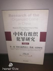 中国有组织犯罪研究.第一卷.中国大陆黑社会(性质)犯罪研究