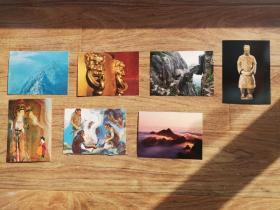 30处文化遗产地精美明信片(每地一枚),配30枚专用邮票,景点打卡专用。