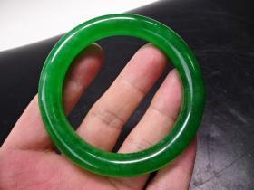 清满绿翡翠手镯一个