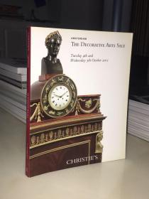 CHRISTIE'S AMSTERDAM THE DECORATIVE ARTS SALE 2012/佳士得拍卖图录画册图册.欧洲古董瓷器.家具.工艺品拍卖图录(年份久远书边发黄.岁月痕迹)