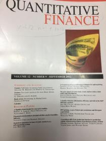 Quantitative finance 期刊,2012年9月刊