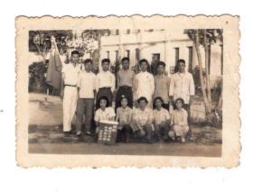 1958年某中学老照片6*4CM