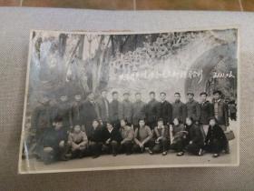 1961年武汉市共青团养殖场机关支部在汉口中山公园游园合影老照片一张,包快递发货。