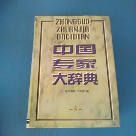 中国专家大辞典 5