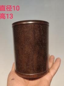 文房黄花梨笔筒  牛毛纹  自然包浆  品相一流  保存完整