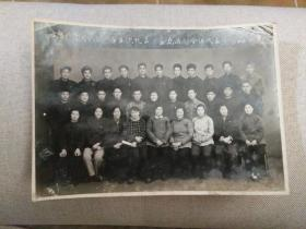 1963年出席共青团武汉市第五次代表大会东西湖区全体代表合影老照片一张,包快递发货。