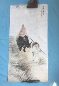 宣纸挂历画:任伯年  光绪巳丑夏六月