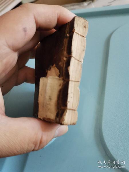 故纸,纸文化,花笺纸文化:清代空白册笺,史上最小的空白页,6*5厘米,书院科举考生夹带本未遂。