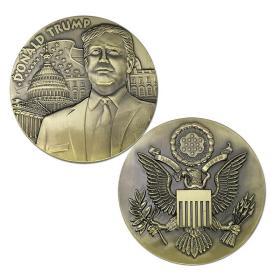 第45届美国总统特朗普纪念章大徽章川普纪念币收藏礼物纪念品铜章