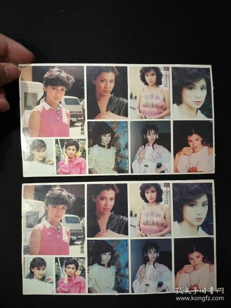 怀旧明星贴纸:翁美玲 (2整张合售)     (编号:03)