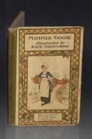 1890年Kate Greenaway - Mother Goose Or The Nursery Rhymes 凯特•格林威经典儿童绘本《鹅妈妈童谣集》大量绝美珂罗版手工套色彩色版画插图