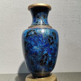 民国铜胎景泰蓝花瓶  【规格】高15.5厘米