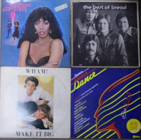 留声机专用 DONNA SUMMER WHAM BREAD DANCE DANCE DANCE   黑胶唱片4只 港版