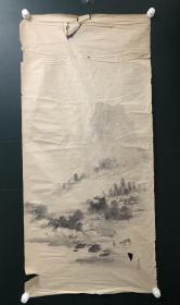 日本回流   字画 软片 5644--  5647   山水画4幅(破损)
