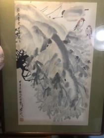 保真,著名版画家、连环画家陆延水墨画