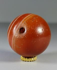 4702   老缠丝 红玛瑙 珠子
