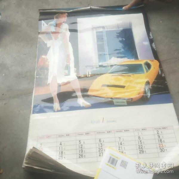 1993《城市、汽车、佳丽》挂历