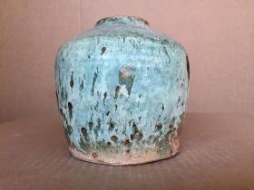 清代《窑变釉罐》完整品好,适合居家装饰,高12厘米.腹径12厘米、白菜价仅售200元