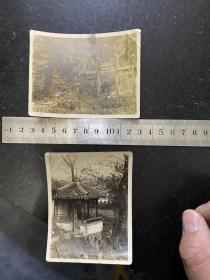 民国早期苏州虎丘风景老照片2张 古真娘墓 吴分楚胜坊 绝对稀少的民国时期的影像资料
