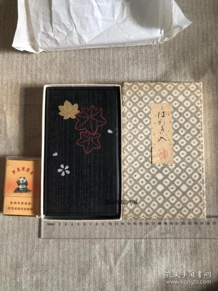 日本  古旧品  原包装 说明书齐全  象彦漆盒     原盒     莳绘漆器盒     尺寸20*11*3cm