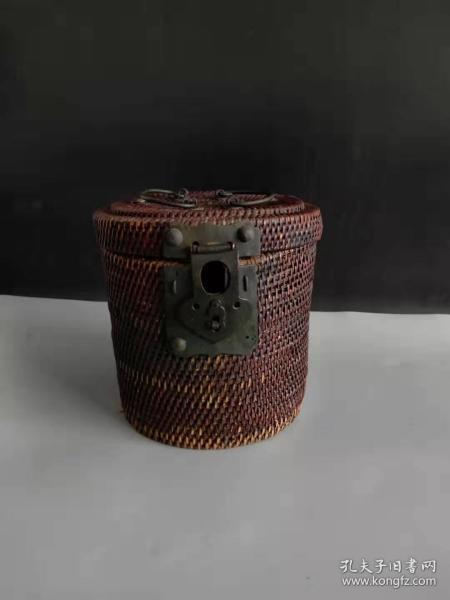 清代老茶囤,纯手工编织,全品包老,