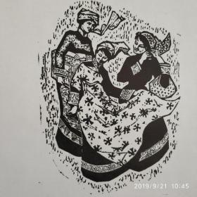 中国美协会员草原画家肖宽版画作品(共67幅)   ms16