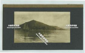 清代晚期民国极早期香港深水湾和双桅帆船老照片,照片16X8.8厘米
