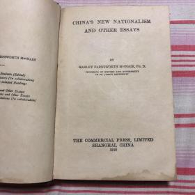 """【民国-政治-革命,提供原书的影印】1932年出版《麦氏时事论文集》或《中国新民族主义论文集》""""China`s New Nationalism and Other Essays by Harley Farnsworth Macnair"""""""