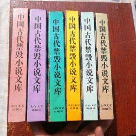 中国古代禁毁小说文库 6册  扉页处有印章