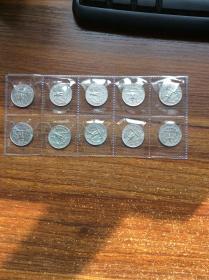 白头海雕美国鹰 乔治华盛顿总统 25美分 硬币(十枚,1965、1981、1985、1974、1991、1995、1998、1981、1994、1993)