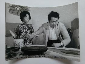 稀少-范曾·边宝华夫妻早期合影黑白超大老照片
