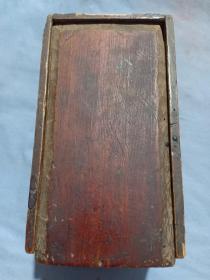 箱15,民国左右插板木盒,钱盒,纸契盒,尺寸16.5*9*7.5cm