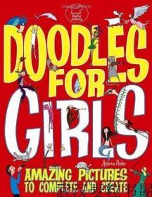 现货英文原版儿童书Doodles For Girls 女孩涂鸦书