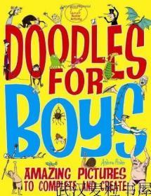 现货英文原版儿童书Doodles For Boys男孩涂鸦书