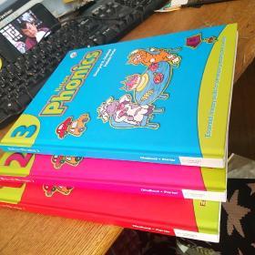 Nelson Phonics 1.2.3全三册原版教材尼尔森自然拼读幼儿英语发音语音教材 有三张光盘