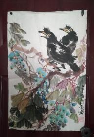 八十年代紫藤图一幅,功底深厚,作者不识