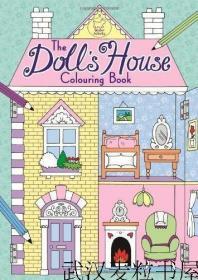 现货英文原版儿童书Doll's House Colouring Book