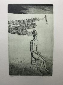 Pilecek 藏书票原作79
