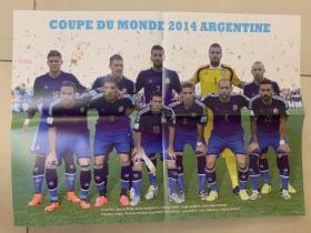 足球海报  2014世界杯 阿根廷队/梅西,品相如图