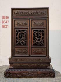 老红木佛龛,通体满工工艺精美漂亮,全美品………