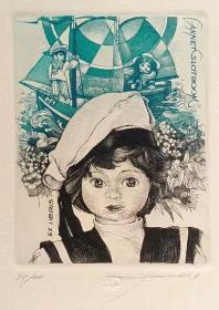 比利时 帕维尔 Hedwig Pauwels 版画藏书票原作7精品收藏